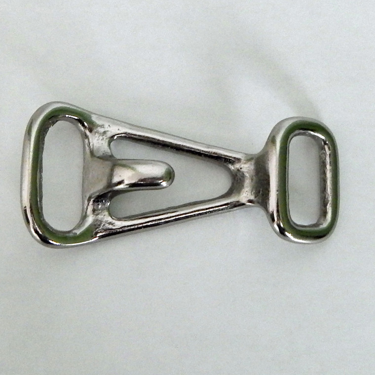 """Halter Tie clip, Nickel Plated 7/8"""""""