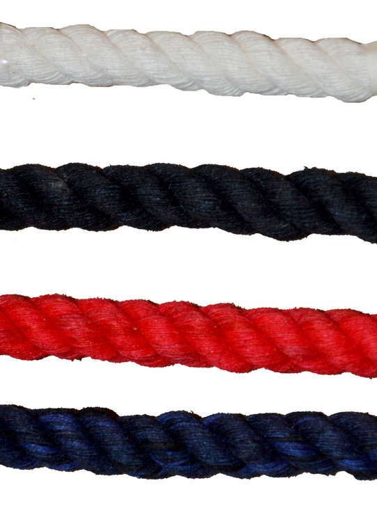 """3 Strand Cotton - 3/4"""" Rope x 350 ft. Spool Made in the USA White & Colors"""