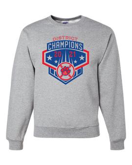 Baseball District Champs Crewneck Sweatshirt