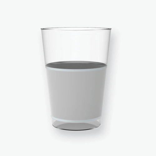 Round Silver Banded Plastic Tumblers | 10 Tumblers