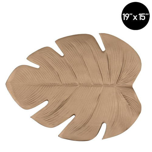 Palm Leaf Gold Printed Vinyl Placemat | 1 Charger