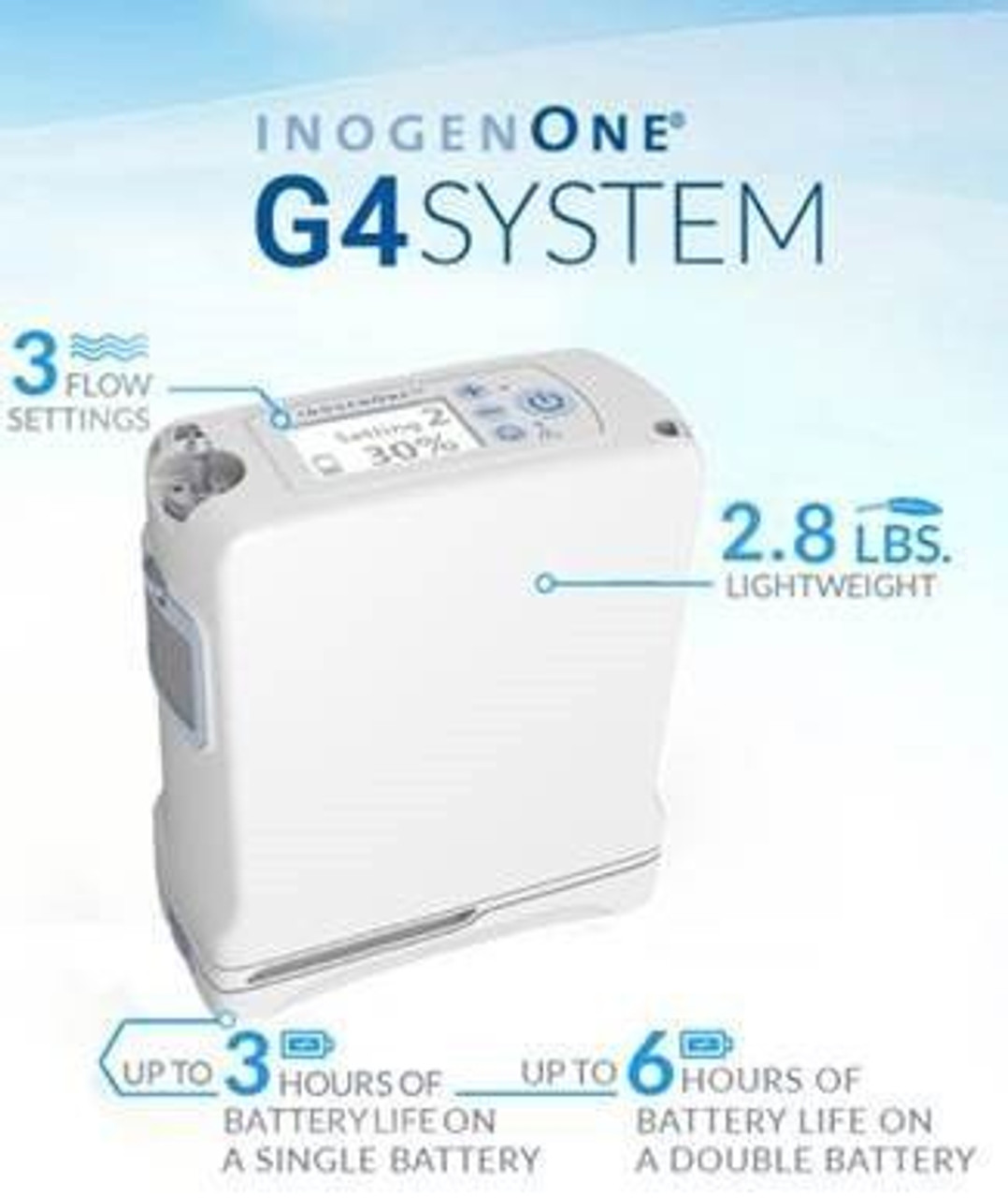 Inogen One G4 Portable oxygen machine specifications