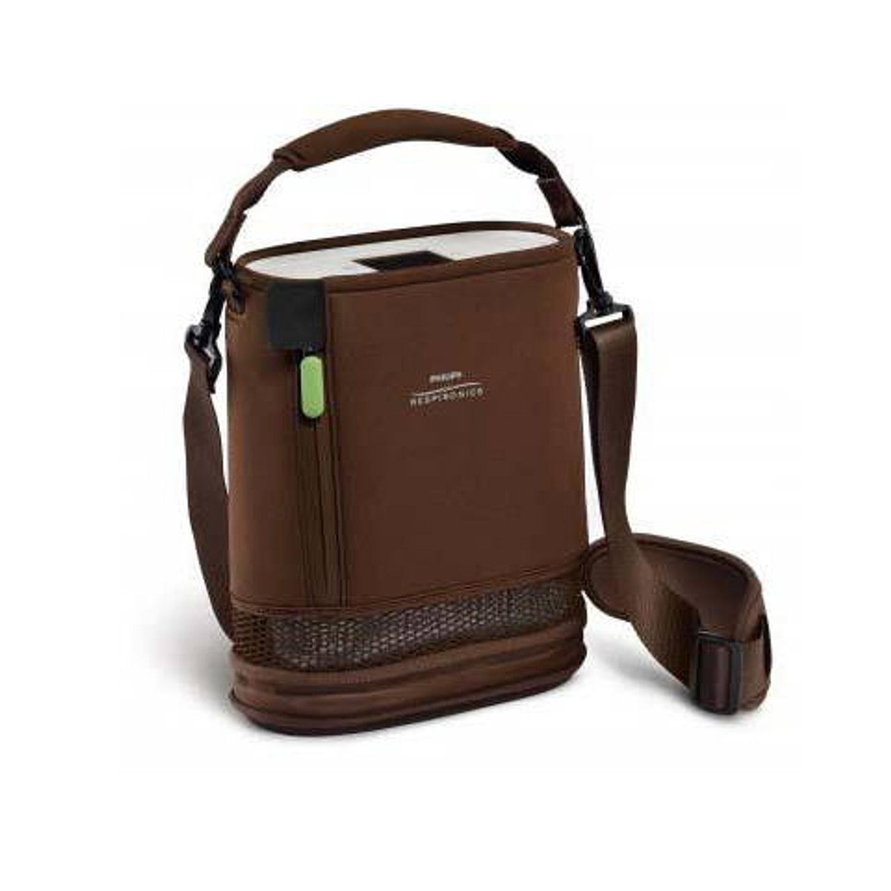 SimplyGo MINI Shown with Carry Case and Shoulder Strap