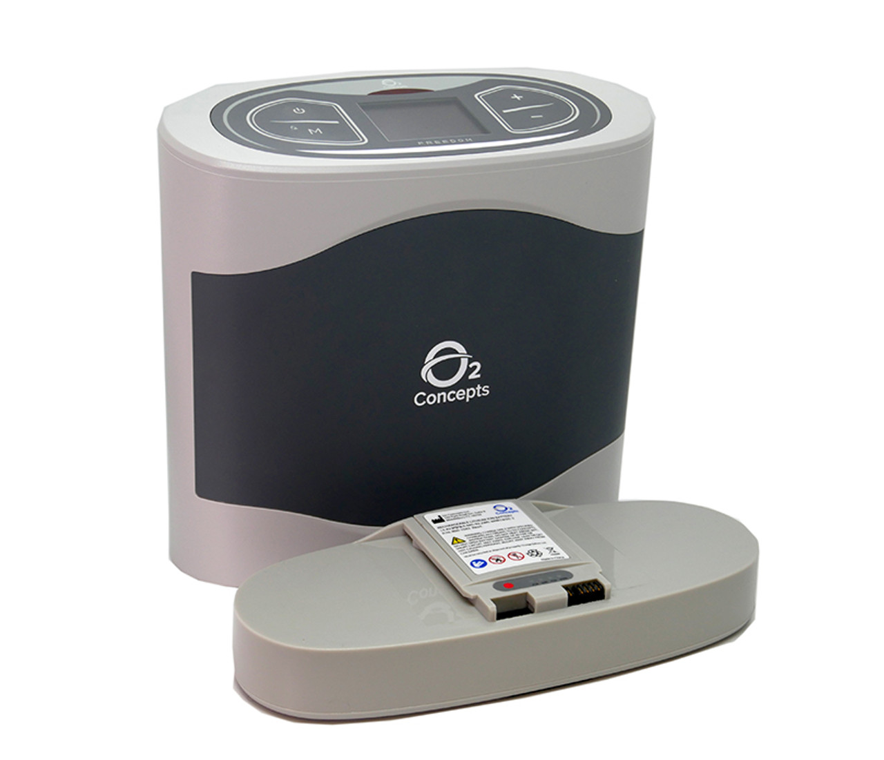 Oxlife Freedom Portable Oxygen Shown With Battery