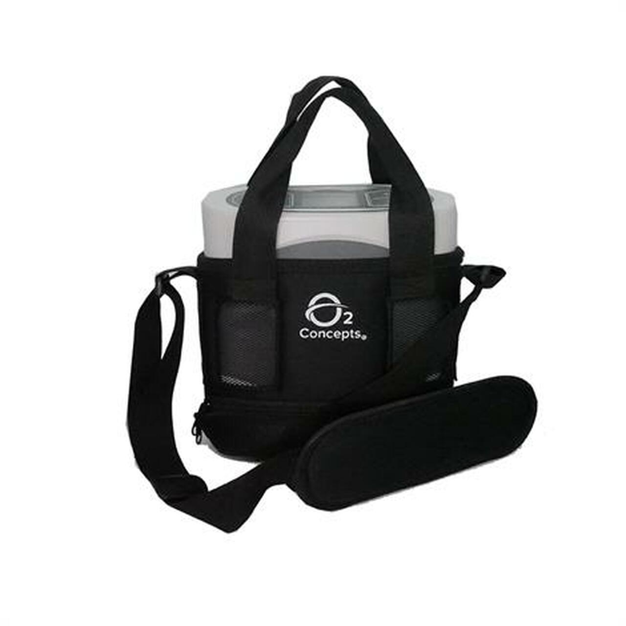 Freedom Portable Oxygen Concentrator Shown in Carry Case