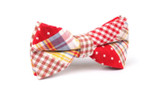 OTAA Plaid Red Gingham Bow Tie