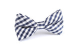OTAA Navy Blue Gingham Bow Tie