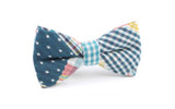 OTAA Plaid Blue Gingham Bow Tie
