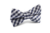 OTAA Navy Blue Gingham Kids Bow Tie