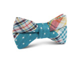 OTAA Plaid Blue Gingham Kids Bow Tie