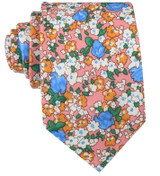 Panama Pink Floral Neck Tie
