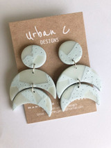 Urban C Designs Handmade Earrings Pastel Mint
