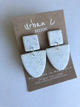 Urban C Designs Handmade Earrings Ceramic Pattern