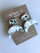 Urban C Designs Handmade Earrings Green Moon