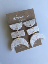 Urban C Designs Handmade Earrings Natural Moon