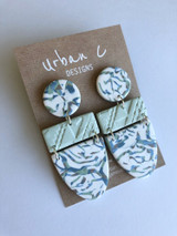 Urban C Designs Handmade Earrings Mint Marble