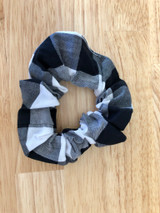 Handmade Scrunchie - Black Gingham