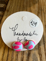 Handmade By Em Stud Earrings Sky Blue Meets Pink