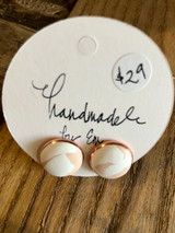 Handmade By Em Stud Earrings Creamy Love