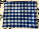 Clutches & Co Handmade Fabric Clutch Large Blue Gingham