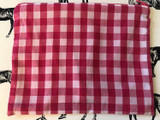 Clutches & Co Handmade Fabric Clutch Large Pink Gingham