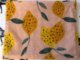 Clutches & Co Handmade Fabric Clutch Large Lemon Delicious