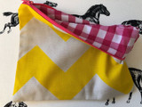 Clutches & Co Handmade Fabric Clutch Medium Yellow Ziggy