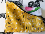 Clutches & Co Handmade Fabric Clutch Medium Tulips
