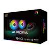 Aurora 240 (AIO Liquid Cooler, Aura Illuminated Pump Head, 2x120mm AT120 Rainbow Fan, Reinforced Metal Backplate)  | EN42807