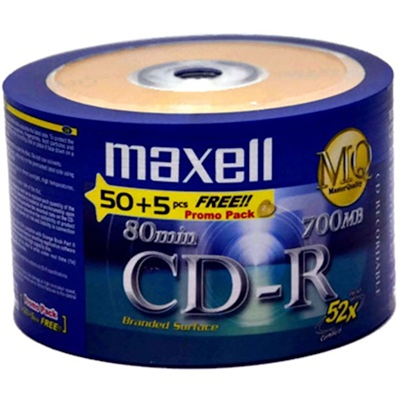 Maxell CD-R(50+5B) 52X 700mb 80min 50pcs Free 5pcs Bulk Pack