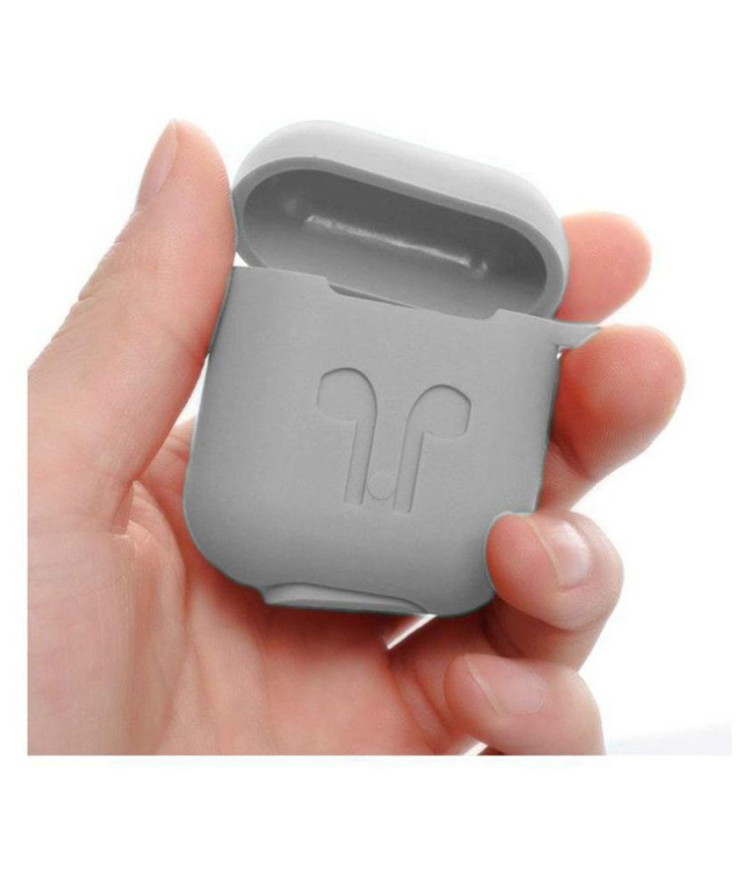 Premium Silicone Case Full Protective Cover Skin with Keychain - Grey