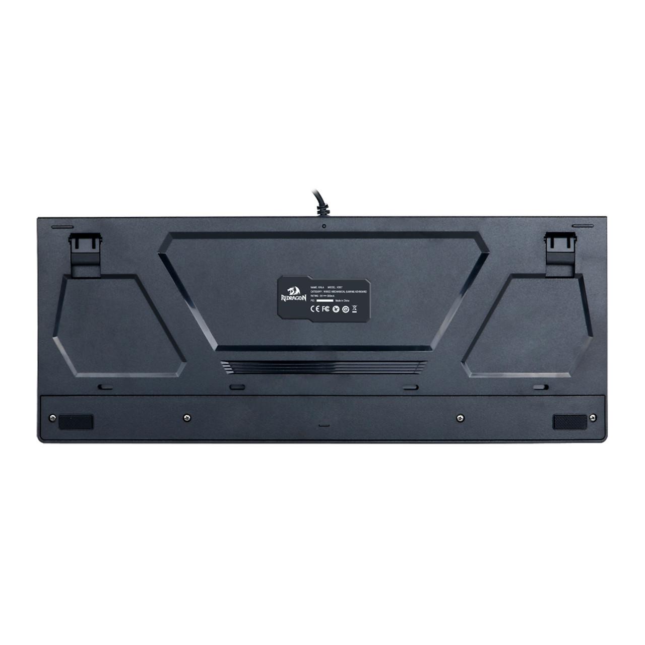Redragon K557 KALA RGB Backlit Waterproof Mechanical Gaming Keyboard with Blue Switches, Anti-ghosting 104 Keys