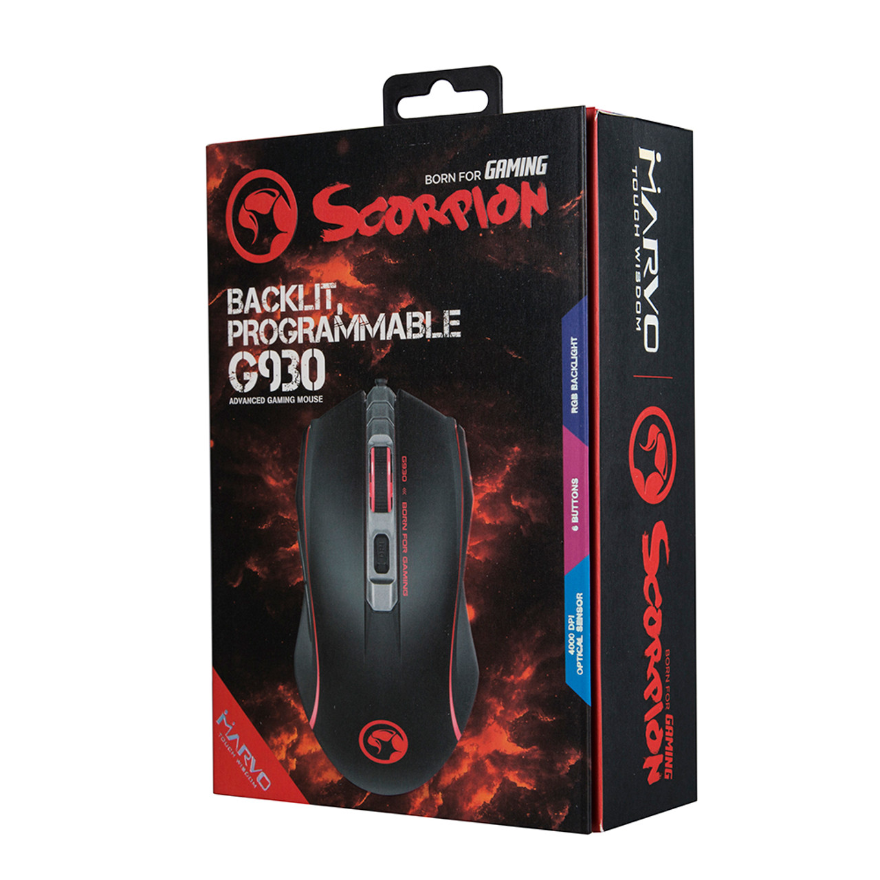 MARVO SCORPION G930 PROGRAMMABLE GAMING MOUSE