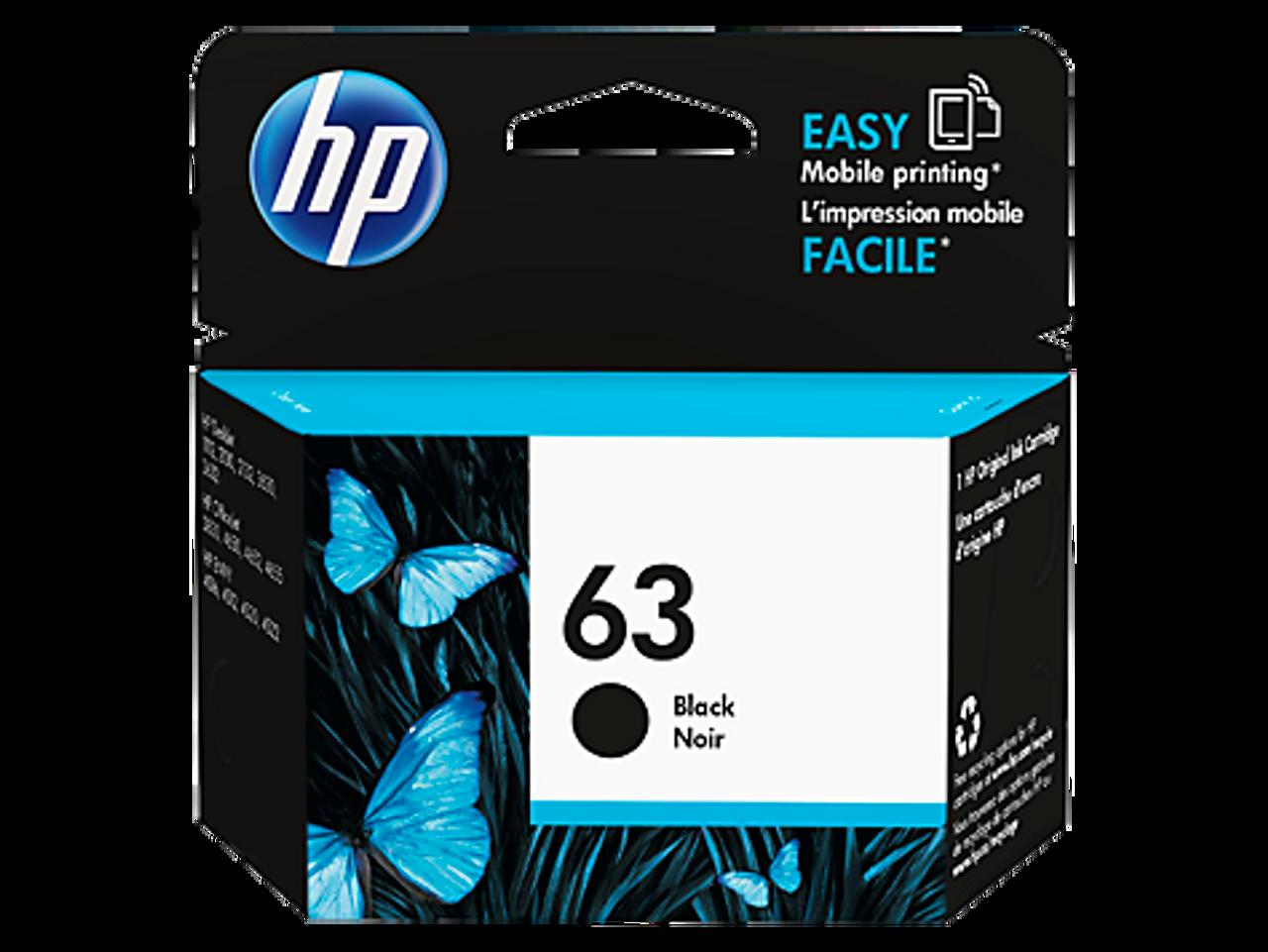 HP 63 Black Original Ink Cartridge (F6U62AA)