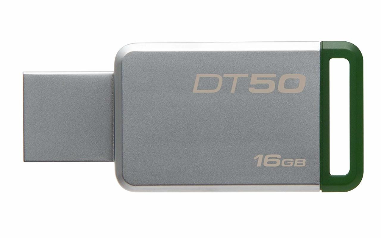 Kingston Digital 16GB USB 3.0 Data Traveler 50, 30MB/s Read, 5MB/s Write (DT50/16GB)