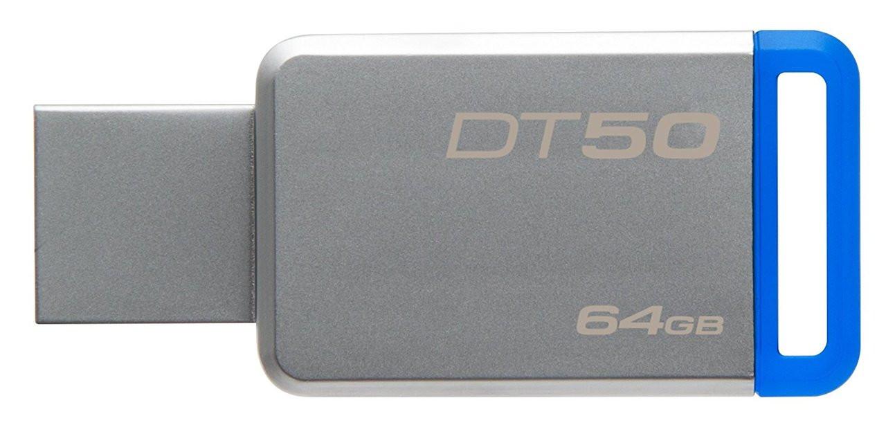 Kingston Digital 64GB USB 3.0 Data Traveler 50, 110MB/s Read, 15MB/s Write (DT50/64GB)