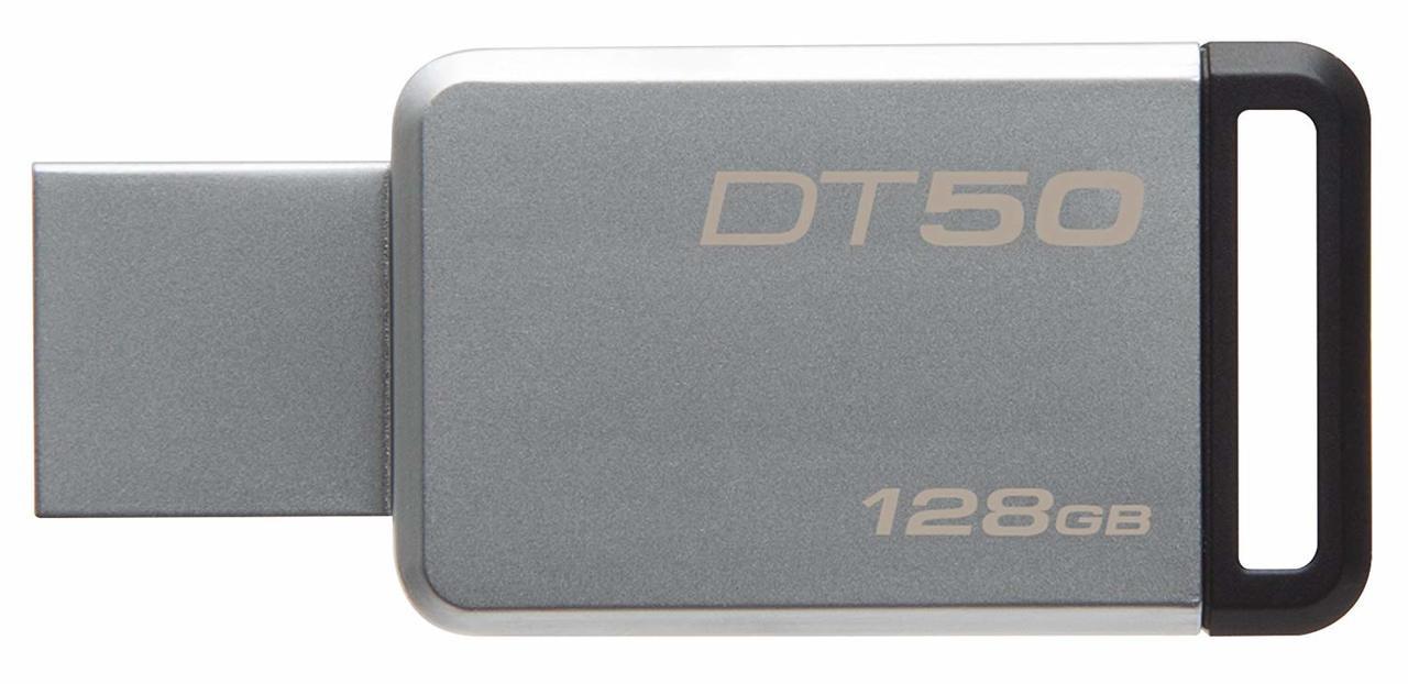 Kingston Digital 128GB USB 3.0 Data Traveler 50, 110MB/s Read, 15MB/s Write (DT50/128GB)