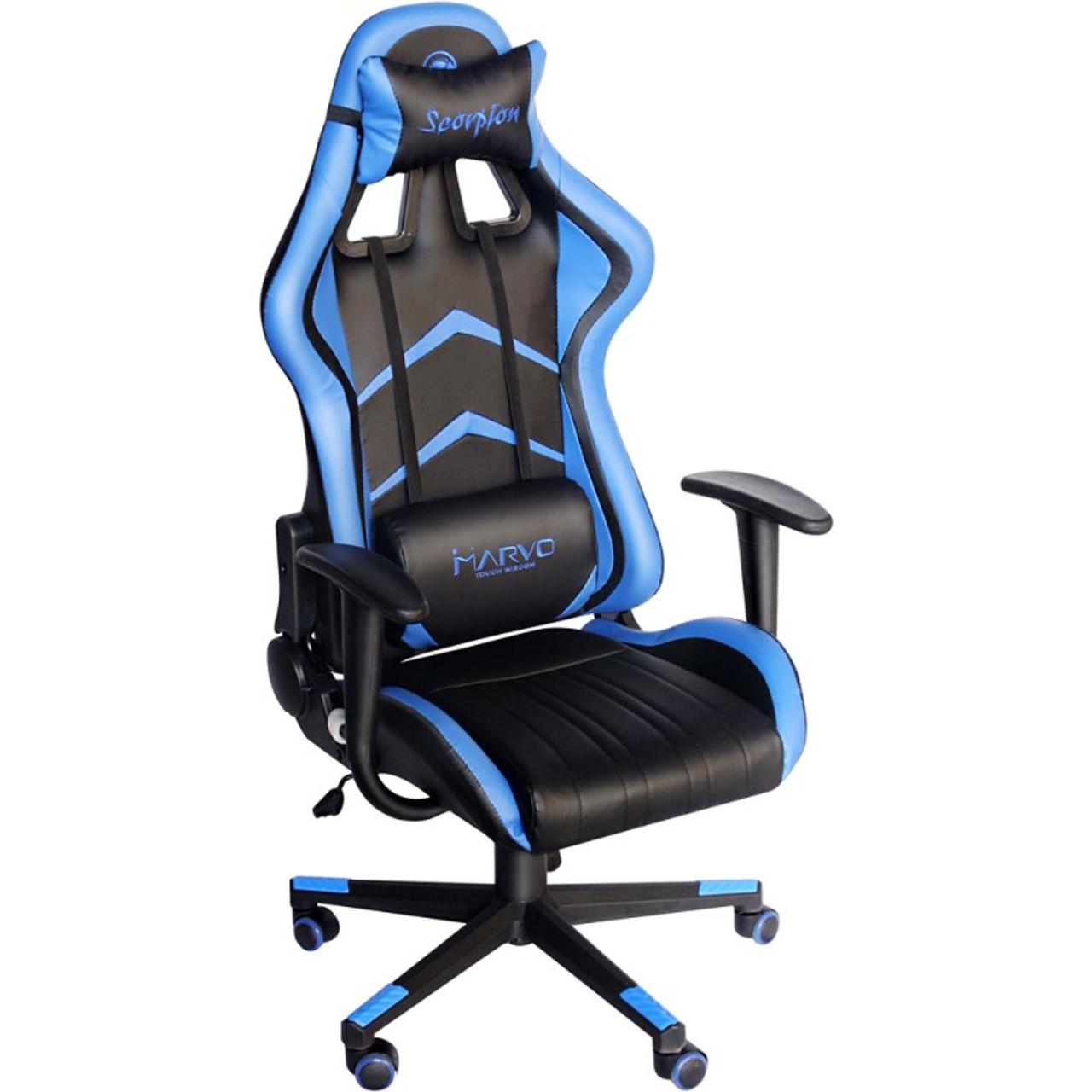 Fantastic Marvo Scorpion Ch 106 Blue Adjustable Ergonomic Chair Squirreltailoven Fun Painted Chair Ideas Images Squirreltailovenorg