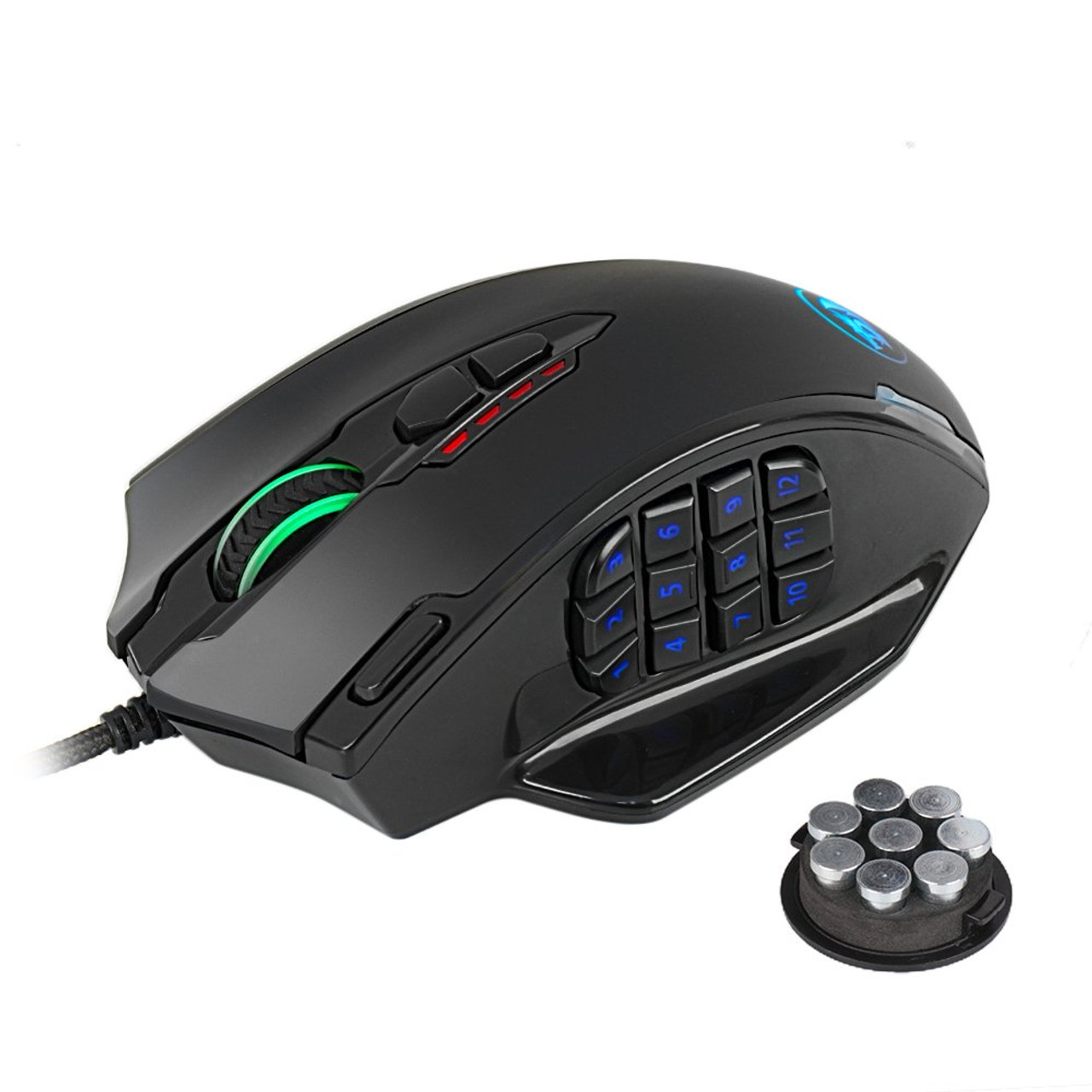 3c6fab3703d Redragon M908 IMPACT MMO Gaming Mouse up to 12,400 DPI High Precision Laser  Mouse for PC