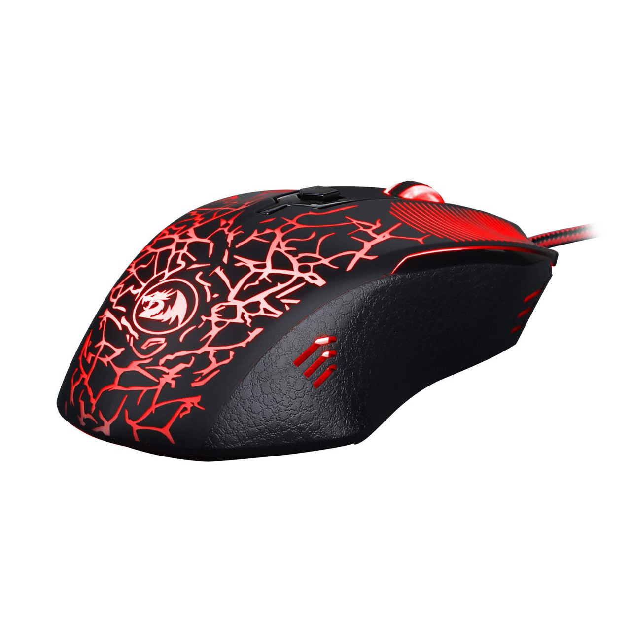 Redragon M608 inquisitor Wired Gaming Mouse Ergonomic LED Back Light PC Laptop Computer Gaming Mouse 4 LED Colors 2 Side Buttons 3200 DPI User Programmable