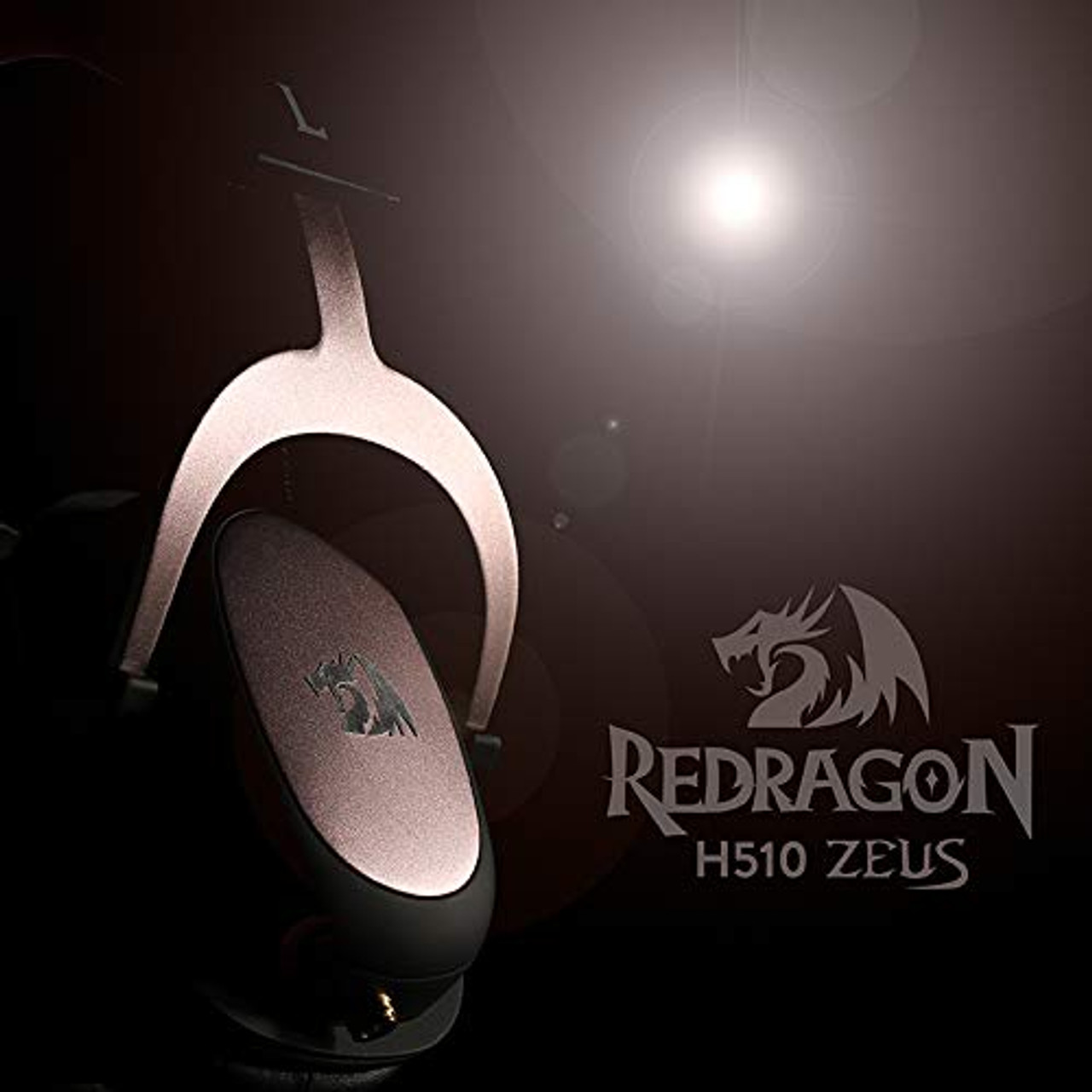 Redragon H510 Zeus Wired Gaming Headset, 7 1 Surround-Sound, 53MM Drivers,  Detachable Microphone - Works with PC/PS4 & Xbox One, Nintendo Switch