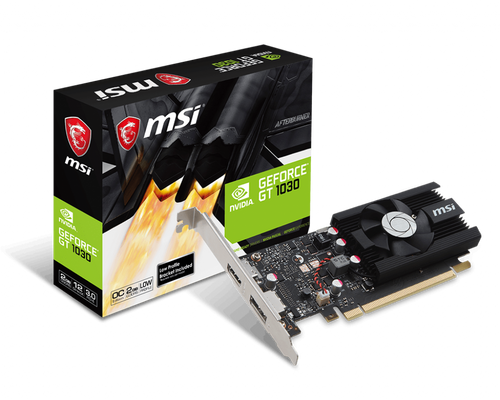 MSI GT 1030 2G LP OC 2GB GDRR5 64-bit HDMI/DP PCI-e 3.0 x16 Low Profile Graphics Card | 912-V809-2826