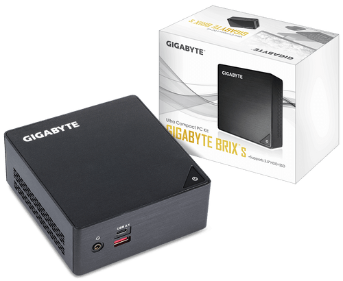 Desktop GIGABYTE BRIX S Mini-PC Barebone Intel I3 CPU ( GB-BKI3HA-7100 )