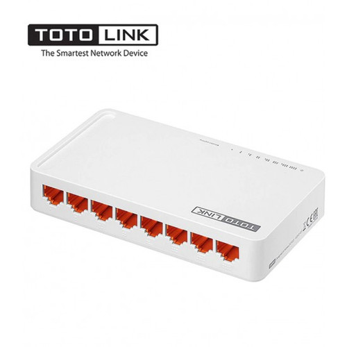 TOTOLINK 8-Port Fast Ethernet Unmanaged Network Switch, Ethernet Splitter, Ethernet Hub, Plug and Play, Fanless, Quiet ( S808 )