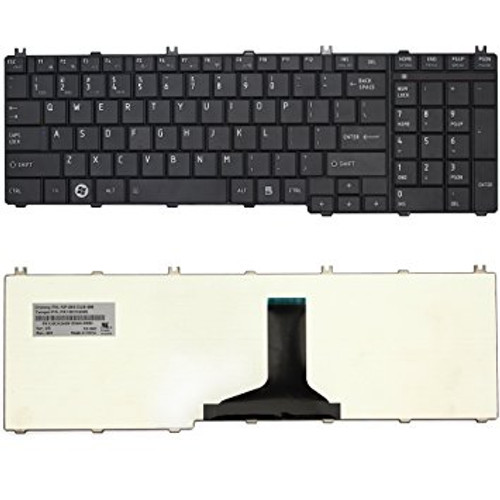 Replacement Laptop Keyboard for TOSHIBA C660 - C650 - L655 - L665 Black /V114326CK1 / BLACK