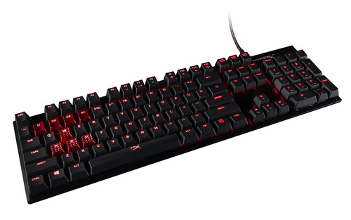 HyperX Alloy FPS - Mechanical Gaming Keyboard & Accessories - Compact Form Factor - Clicky - Cherry MX Blue - Red LED Backlit