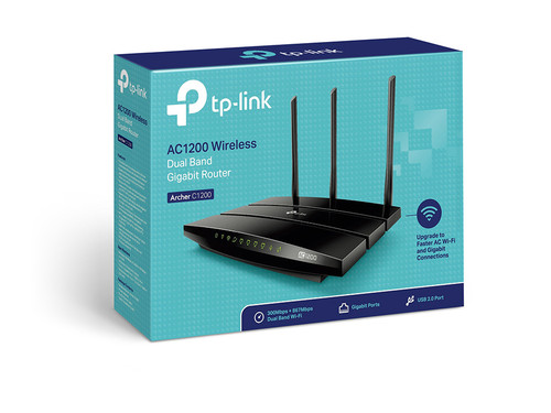TPLINK AC1200 Wireless Dual Band Gigabit Router Archer C1200