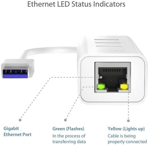 TP-Link 3-Port USB 3.0 Portable USB Hub with 1 Gigabit Ethernet Port Network Adapter, Plug & Play for MacBook, Mac Pro/Mini, iMac, XPS, Surface Pro, Notebooks, Desktop Pcs (UE330)