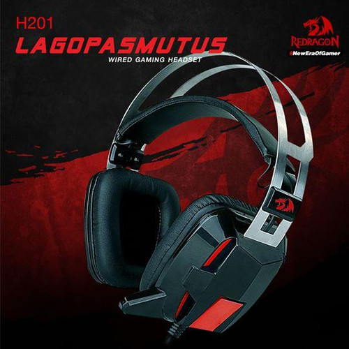 Redragon H201 Stereo Gaming Headset for PS4, Xbox One,PC and Smartphones, Over Ear Noise Reduction Gaming Headphone with Mic, Bass Surround, Universal 3.5mm