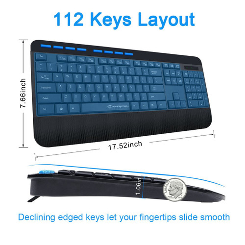GOFREETECH GFT-S001 Wireless Keyboard and Mouse Combo